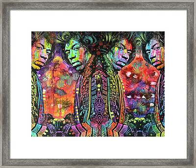 Jimi Reflect Framed Print