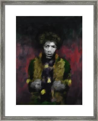 Jimmi Hendrix 550 2 Framed Print by Mawra Tahreem
