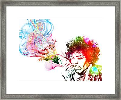 Jimmi Hendrix Framed Print by The DigArtisT