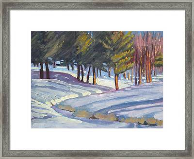 Jimmie's Brook 2 Framed Print by Len Stomski