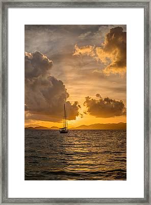 Jimmy Buffet Sunrise Framed Print