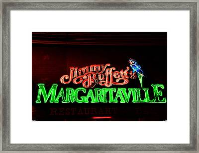 Jimmy Buffett's Margaritaville Framed Print