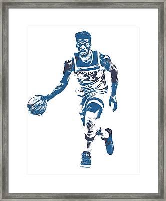 Jimmy Butler Minnesota Timberwolves Pixel Art 5 Framed Print