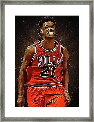Jimmy Butler Framed Print by Semih Yurdabak