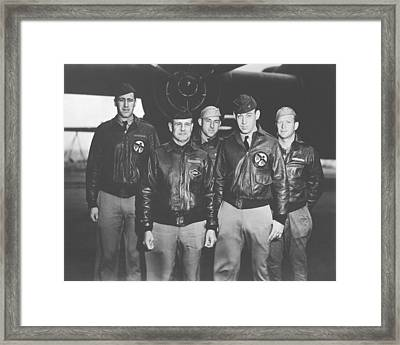 Jimmy Doolittle And His Crew Framed Print by War Is Hell Store