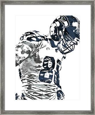 Jimmy Graham Seattle Seahawks Pixel Art 2 Framed Print by Joe Hamilton