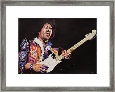 Jimmy Hendrix Framed Print by Chris Benice