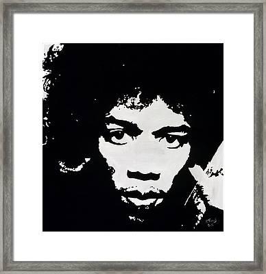 Jimmy Hendrix Framed Print by Leeann Stumpf