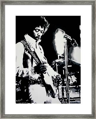 Jimmy Hendrix Purple Haze Framed Print