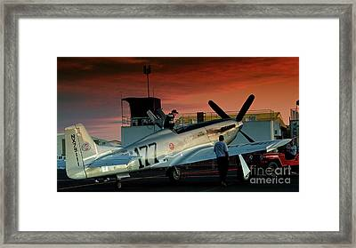 Jimmy Leeward And The Galloping Ghost By Gus Mccrea Framed Print by Gus McCrea