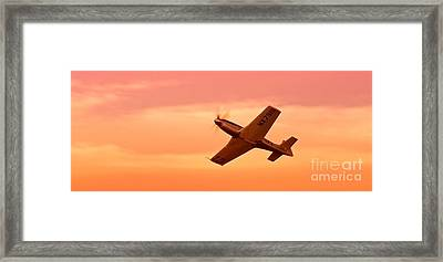 Jimmy Leeward And The Galloping Ghost Into The Sunset Framed Print