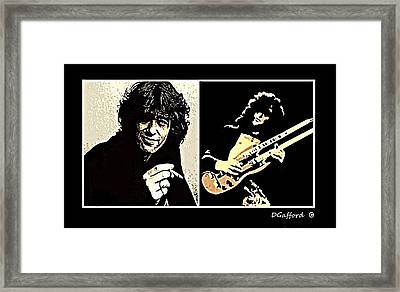 Jimmy Page Framed Print by Dave Gafford