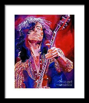 Music Led Zeppelin Framed Prints