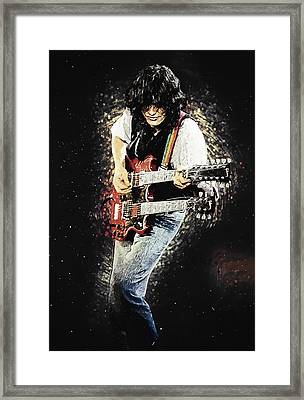 Jimmy Page II Framed Print by Taylan Apukovska