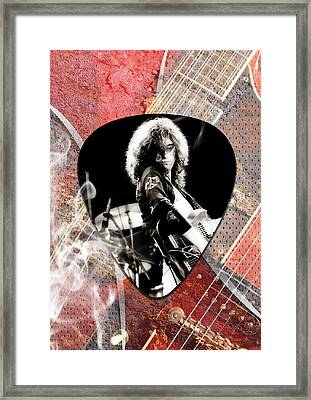 Jimmy Page Led Zeppelin Art Framed Print