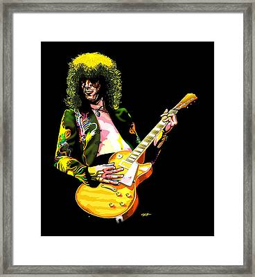 Jimmy Page Of Led Zeppelin Framed Print by GOP Art