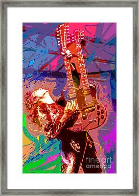 Jimmy Page Stairway To Heaven Framed Print by David Lloyd Glover