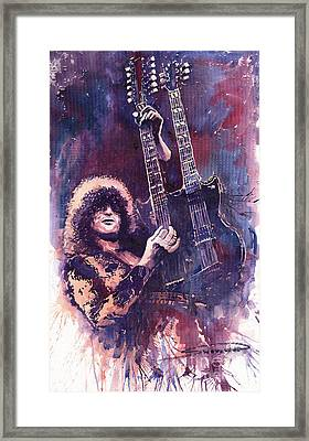 Jimmy Page  Framed Print by Yuriy  Shevchuk