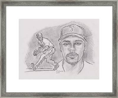 Jimmy Rollins Jroll Framed Print by Chris  DelVecchio