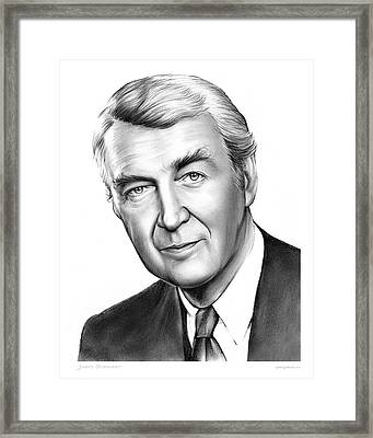 Jimmy Stewart Framed Print by Greg Joens
