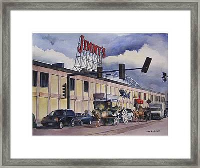Jimmy's Harborside Framed Print