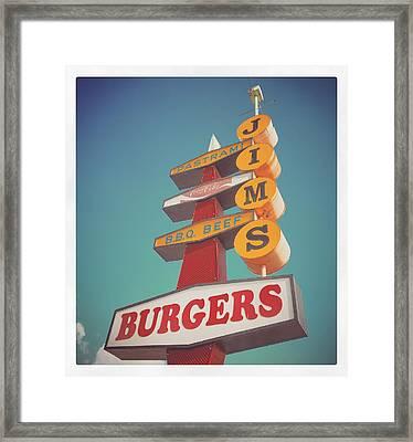 Jim's Burgers Framed Print by Joe Magyar