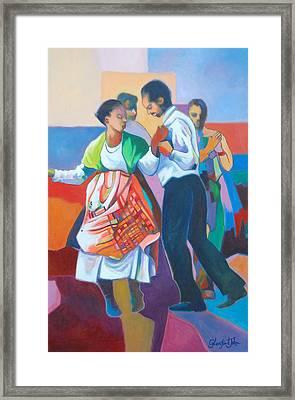 Jing Ping Dance  Framed Print