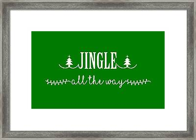 Jingle All The Way Framed Print by Heidi Hermes