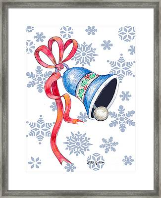 Jingle Bells And Snowflakes On Christmas Day Framed Print