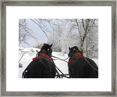 Jingle Bells Framed Print by Peggy  McDonald