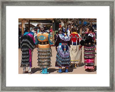 Jingle Dress Dancers Framed Print by Tim McCarthy