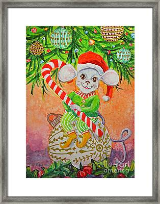 Jingle Mouse Framed Print