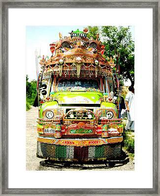 Jingly Bus Framed Print