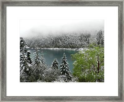 Jiuzhaigou National Park, China Framed Print