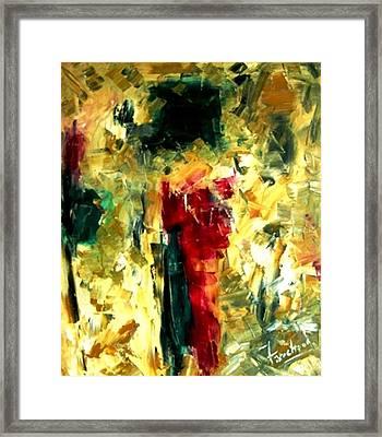 Jive Framed Print by Fareeha Khawaja