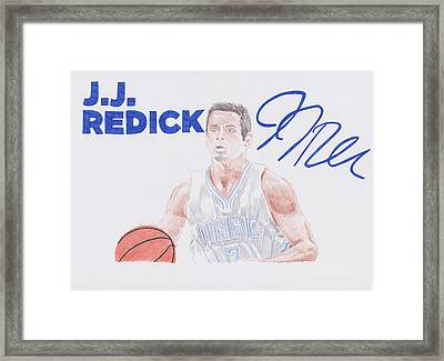 J.j Redick Framed Print by Toni Jaso
