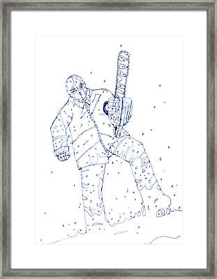 Jjr Comic Character A By Typhoonart Framed Print