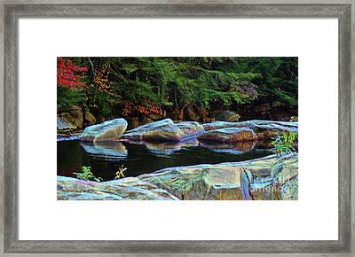 Jnh Boulder Glow Framed Print