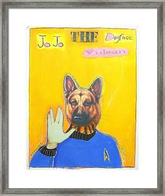 Jo Jo The Dodfaced Vulcan Framed Print by Mike  Mitch
