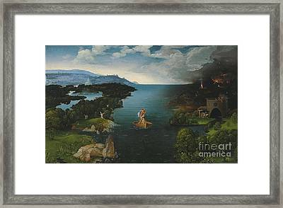 Joachim Patinir And Landscape With Charon Crossing The River Styx Framed Print