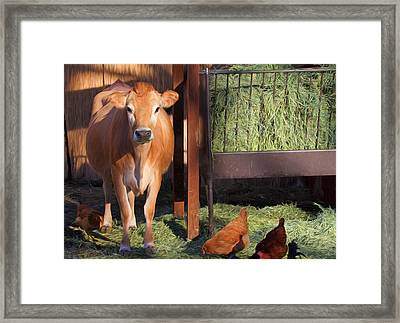Joan And Company Framed Print