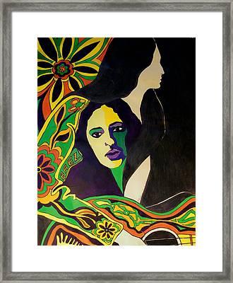 Joan Baez In The Psychodelic Age Framed Print