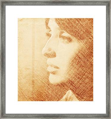 Joan Baez Sketch Framed Print