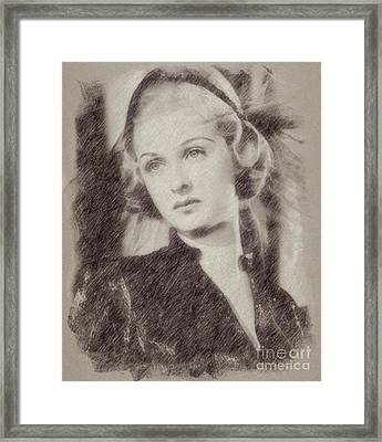 Joan Bennett Vintage Hollywood Actress Framed Print by Frank Falcon