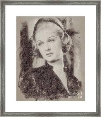 Joan Bennett Vintage Hollywood Actress Framed Print