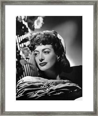 Joan Crawford, Ca. 1947 Framed Print
