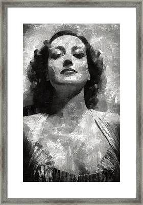 Joan Crawford Hollywood Actress Framed Print by Mary Bassett