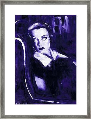 Joan Crawford Framed Print by Mel Thompson