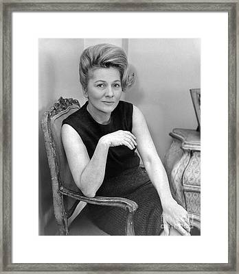 Joan Fontaine Heads Cast Of The Unexpected Guest, An Agatha Christie Mystery For Broadway. 1962 Framed Print by William Jacobellis