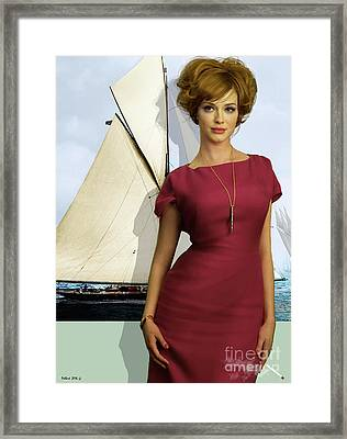 Joan Holloway, Christina Hendricks, Of Sterling Cooper, Mad Men Framed Print by Thomas Pollart